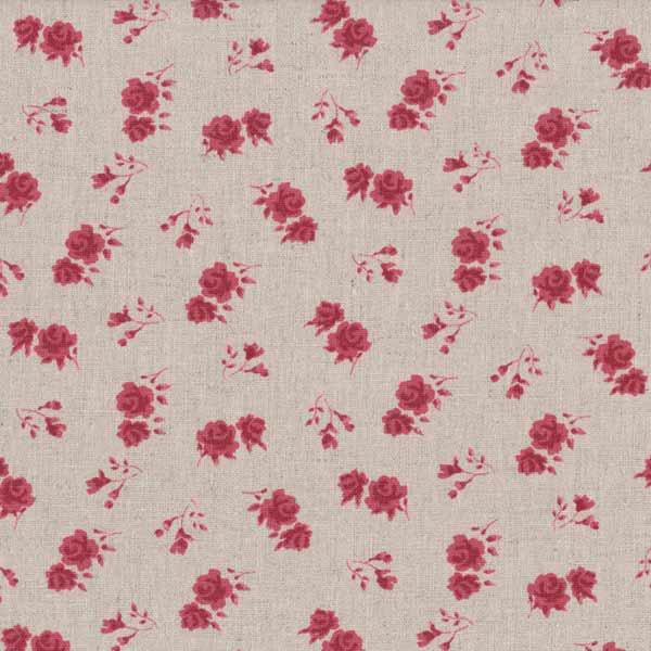 Stof Halbleinen Shabby Chic Beige Schriftzüge Rose Decoration
