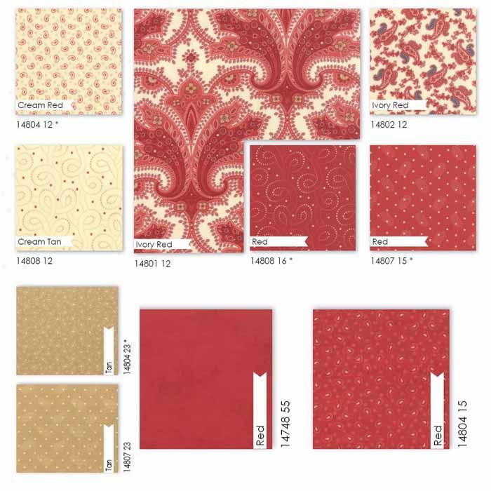 Moda-Fabrics-Polka-Dots-rote-Stoffe