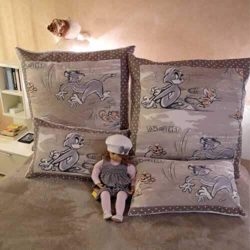 einn hen eines verdeckten rei verschluss in kissenbezug rose decoration das kreativ atelier. Black Bedroom Furniture Sets. Home Design Ideas