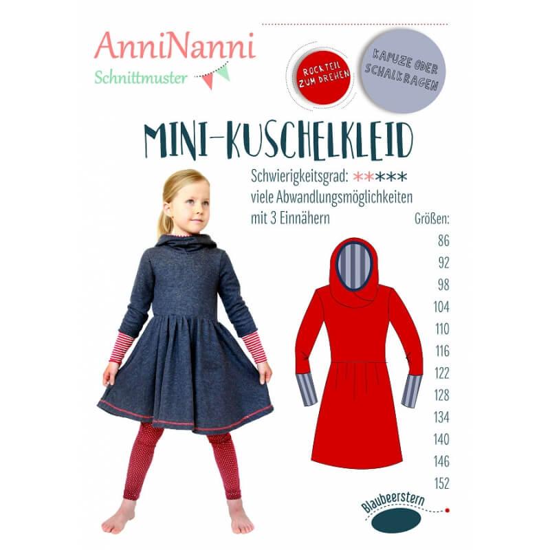 Anleitung und Schnittmuster AnniNanni Mini Kuschelkleid   Rose ...