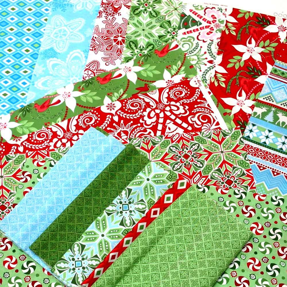 Flurry-ein-weihnachtlicher-Quilt-Stoffe