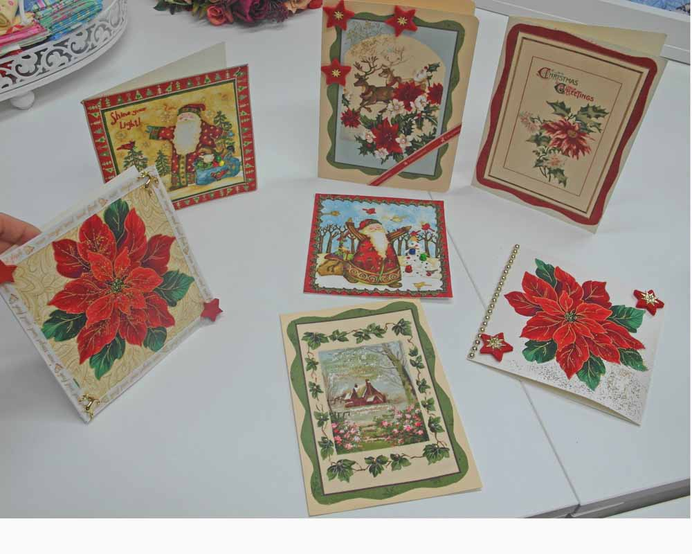 Grußkarten aus Stoff basteln | Rose Decoration - Das Kreativ-Atelier