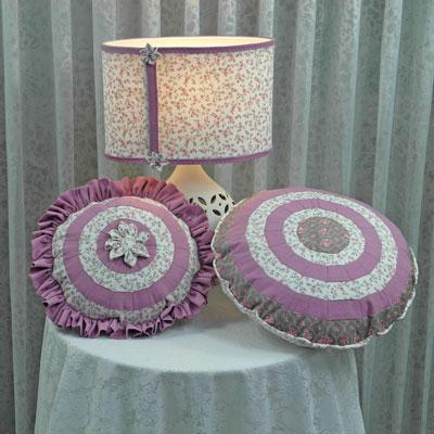 Rose-Decoration-Kissen-runde-Versuchungen