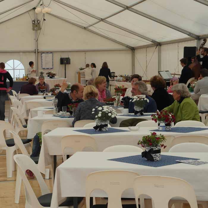 Westfalenstoffe-80-Jahres-Feier-Zelt