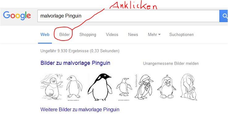 Malvorlage-Pinguin