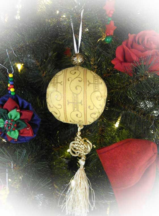 Anleitung Weihnachtsbaumkugeln Nahen Rose Decoration Das Kreativ