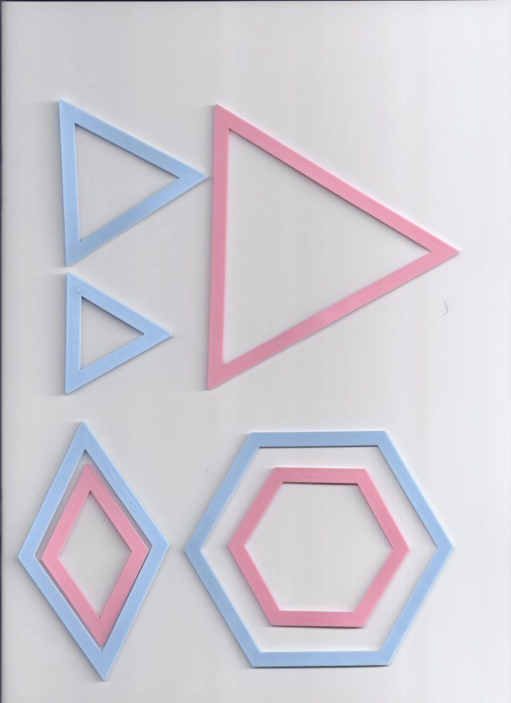 Clover Schablonenset für Patchwork: Dreiecke und Hexagone | Rose ...