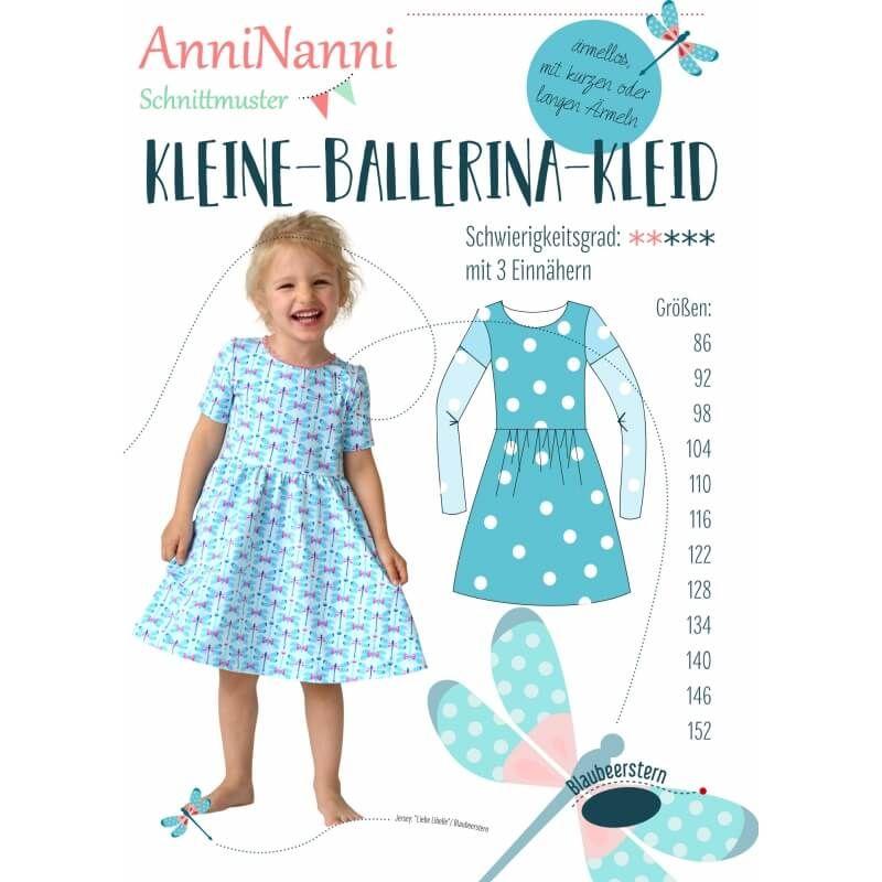 Anleitung und Schnittmuster AnniNanni Kleine-Ballerina-Kleid | Rose ...