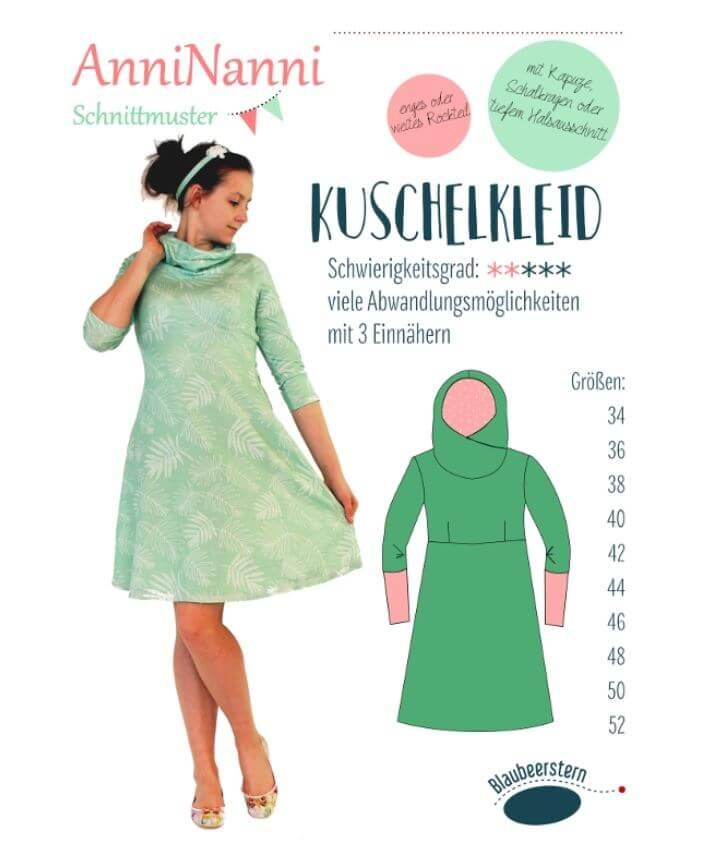 Anleitung und Schnittmuster AnniNanni Kuschelkleid   Rose Decoration ...