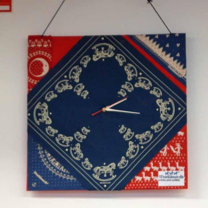 Westfalenstoffe-Muster-Uhr